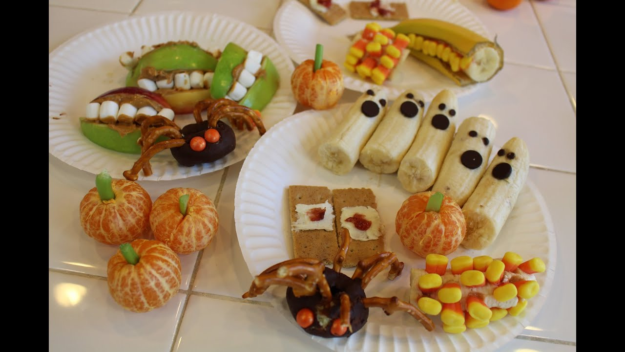 Fun crafty kids halloween snacks youtube for Halloween treats to make with kids