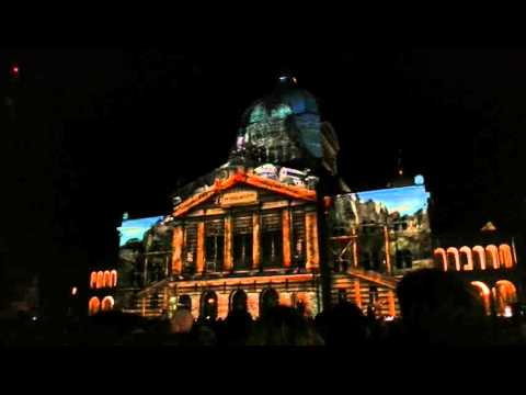 Parliament building Bern - light show 2015