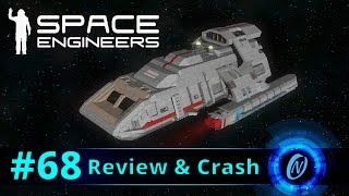 DS9 Danube Class USS Amazon Review and Crash! Space Engineers Part 68