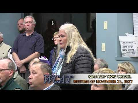 Winthrop Town Council Meeting of November 21, 2017