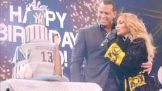 Watch Jennifer Lopez SURPRISE Alex Rodriguez With Cake... TWICE!