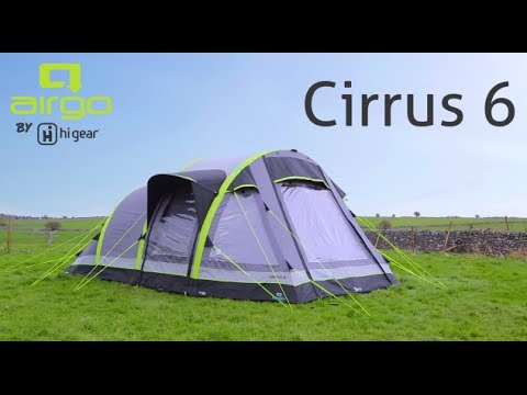 sc 1 st  YouTube & Hi Gear Airgo Cirrus 6 Inflatable 6 Person Tent - YouTube