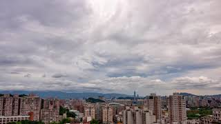 Lenticular Cloud in Taipei City Time-lapse Photography ,Taiwan