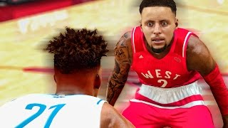 CRAZIEST ALL STAR GAME | HALFCOURT SHOT LIKE STEPHEN CURRY | BREAKING RECORDS | NBA 2k17 MyCareer