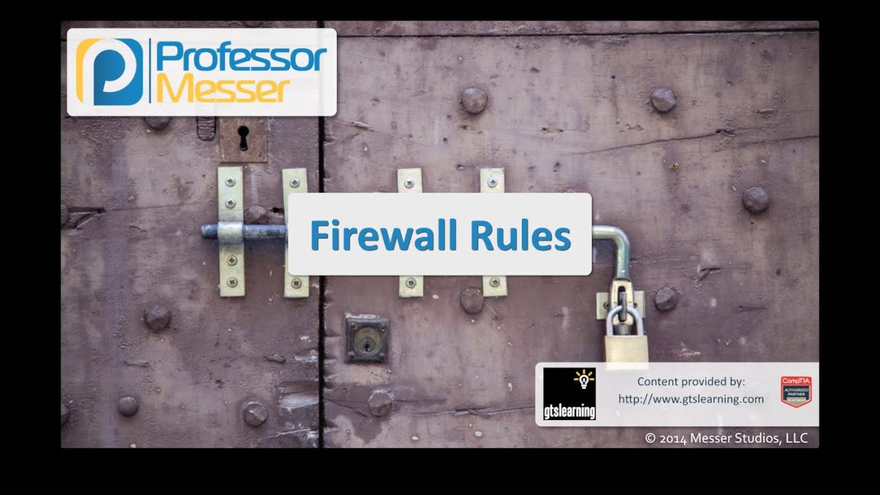 Firewall Rules - CompTIA Security+ SY0-401: 1.2
