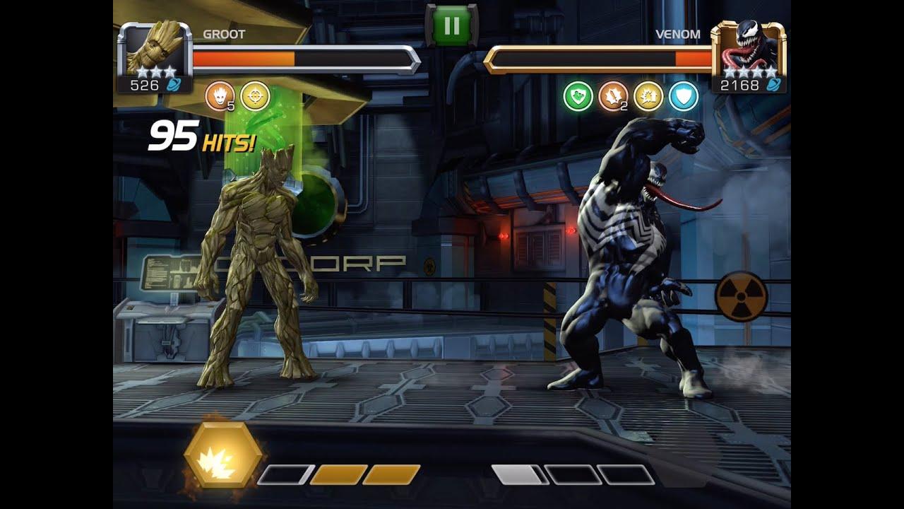 Groot Awakened and Battle vs. Venom | Marvel Contest of ...