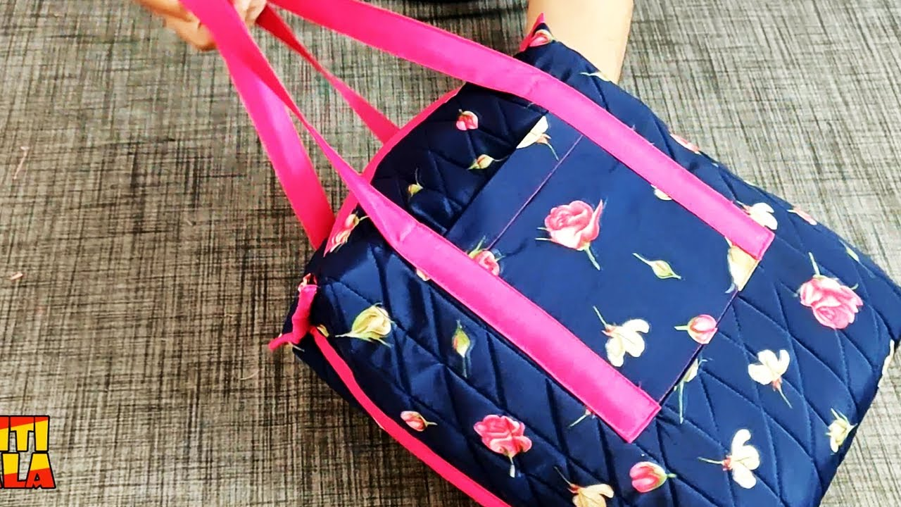 Handmade bag cutting and stitching/ handbag/shopping bag/grocery bag/bag for ladies /shoulder bag