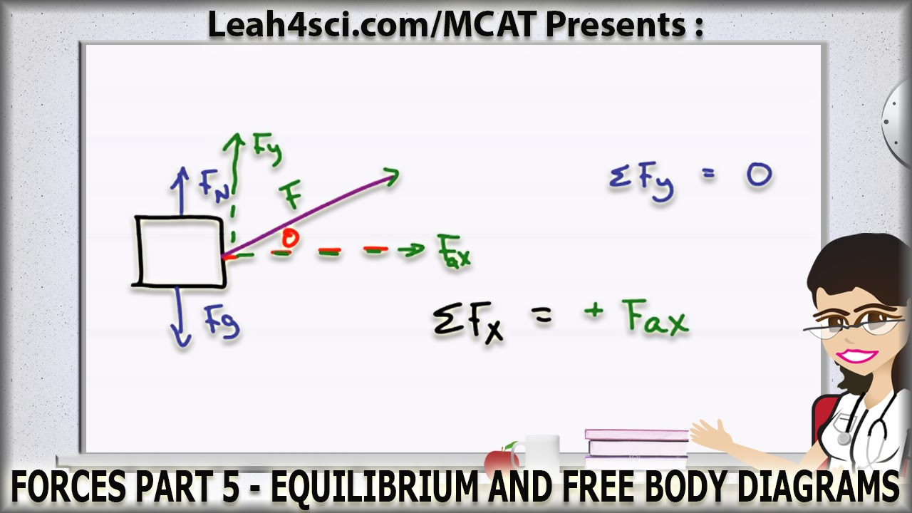 MCAT Force Equilibrium and Free Body Diagrams - YouTube