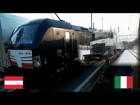 Дальнобой Европа №31 Заезд фуры на поезд Италия - Австрия