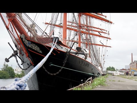 4K | 4 Mast Bark SEDOV - biggest traditionally sailing boat in the world