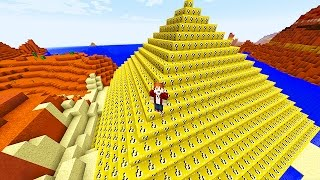 LUCKY BLOCKS PYRAMID MOD CHALLENGE - MINECRAFT MODDED MINI-GAME!