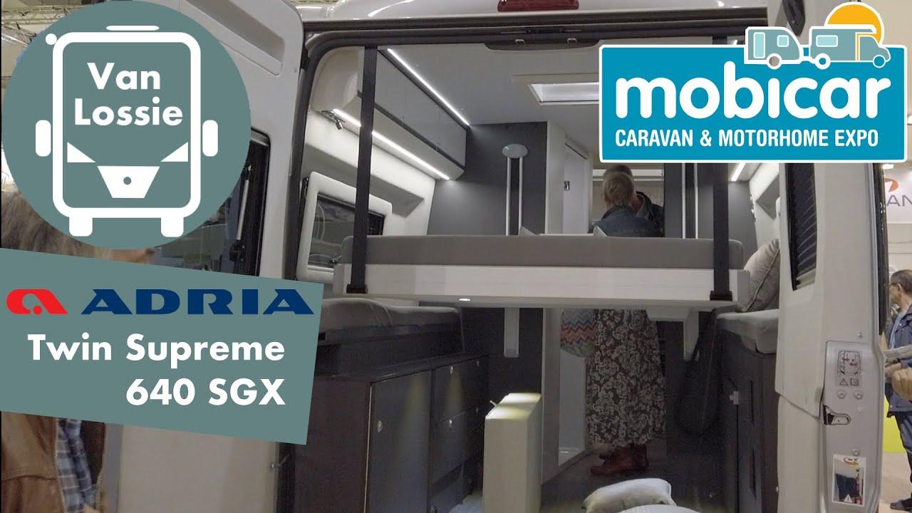 Download Adria Twin Supreme 640 SGX 2020, huge garage, small cupboards