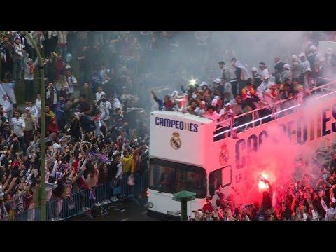Ligue des Champions: parade triomphale du Real Madrid