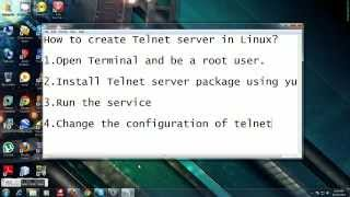 How to create Telnet server in Linux?