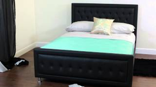 Kensit Faux Leather Bed - Sweet Dreams
