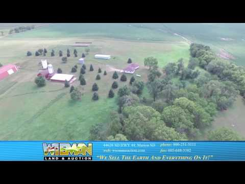 40-ACRES LAND RANCH STYLE 3-BEDROOM HOME – 50 X 120 STEEL SPAN MACHINE SHED AWESOME TREES