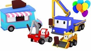 Lodziarka - ucz się z Małymi Samochodzikiami: buldożer, dźwig, koparka