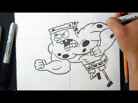 Como Desenhar Bob Esponja Um Heroi Fora D Agua Youtube