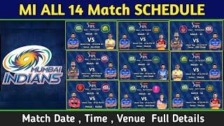 IPL 2020 - Mumbai Indians team All 14 Match full schedule   mi All match schedule dream11 IPL 2020