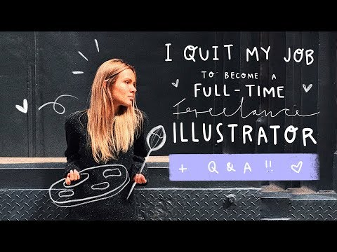 HOW I QUIT MY JOB TO BECOME A FULL-TIME FREELANCE ILLUSTRATOR + Q&A + SPEEDPAINT 👩🏼‍🎨