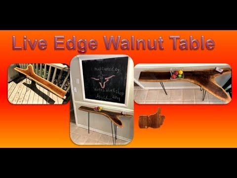 Live Edge Walnut Table   DIY