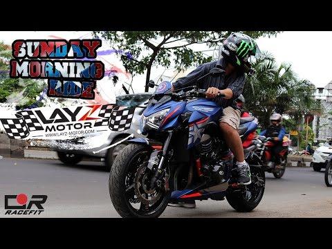 Z800 'Captain America' | Sunday Morning Ride #1 at Jakarta, Indonesia | Layz Motor