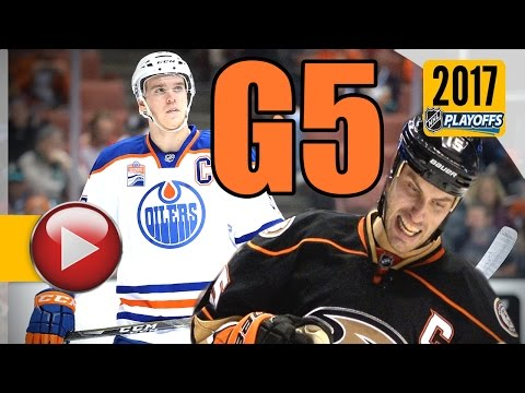 Edmonton Oilers vs Anaheim Ducks. 2017 NHL Playoffs. Round 2. Game 5. May 5th, 2017. (HD)