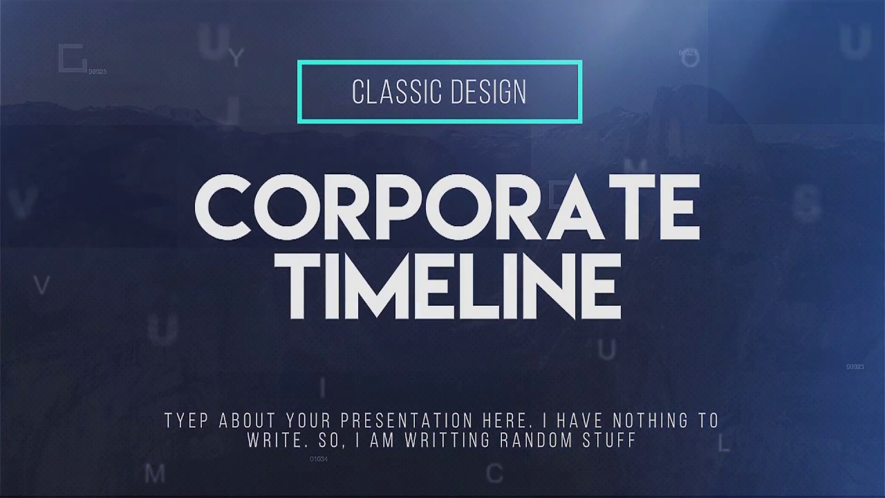 Corporate Timeline : Premiere Pro Template - YouTube
