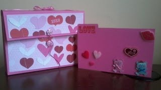 Card Box ( Scrapbook ) Original + Facil ( Manualidades Para San Valentin 3