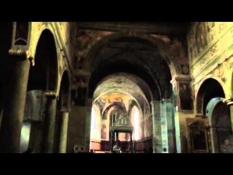Monks chanting at Farfa abbey