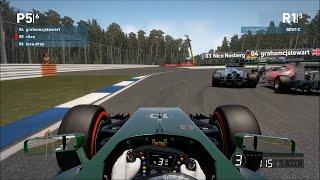 F1 2014 Amazing Overtake (Online Gameplay)    Full HD