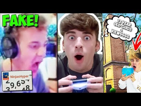 FAKE NINJA GAINS 10,000s OF SUBS IN A FEW HOURS! | Top 5 WORST Fortnite Channels On YouTube...