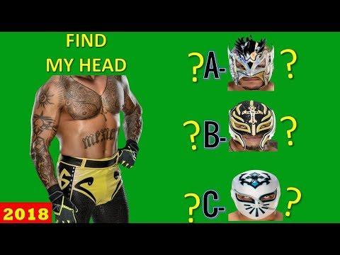 WWE QUIZ - Only True WWE Fans Can Find WWE WRESTLERS HEAD? [HD]