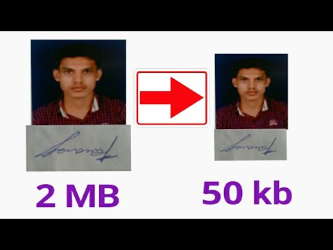 How To Resize And Reduce Photo And Signature For Online Forms With Mobile (in Hindi)