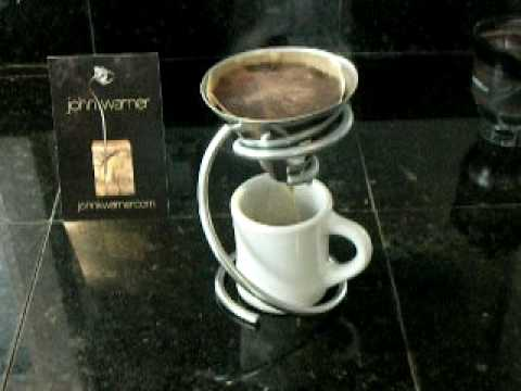 Hanabishi Coffee Maker 1 Cup : Lily - single cup coffee maker - johnkwarner - YouTube