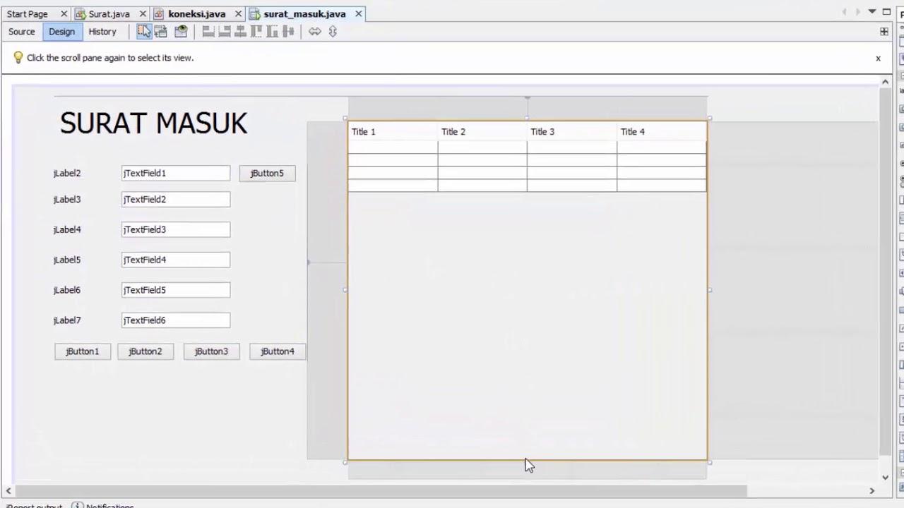 Tutorial Membuat Aplikasi Surat Masuk Surat Keluar Menggunakan Java Netbeans Part1 16