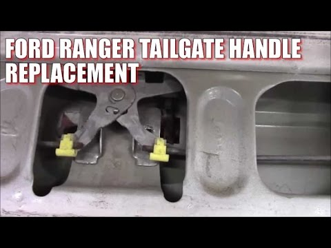 How To Replace Install Ford Ranger Tailgate Handle Youtube