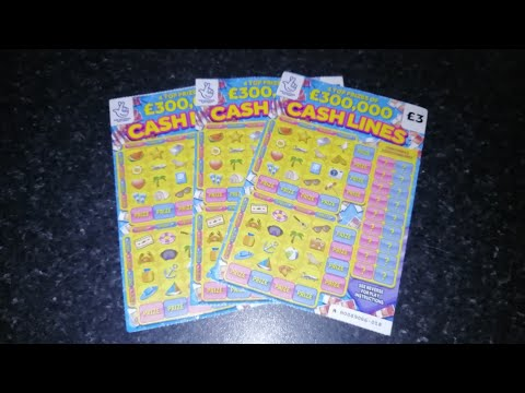 £3 Cash Lines Scratch Cards. Lucky or Not?🍀🍀🍀