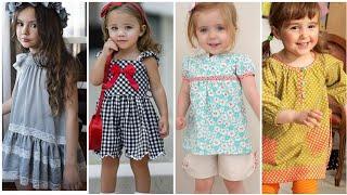 New trendy latest designer baby dress designs //trending baby girl dress design