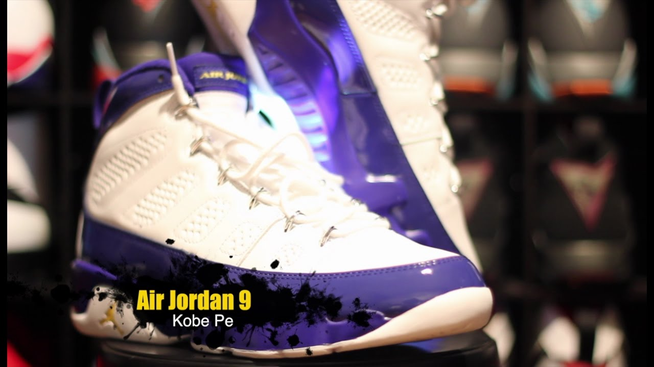88987c3ca600 Air Jordan 9 Kobe Pe Complete Authentic Unboxing Review + On Foot ...