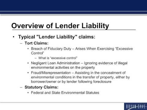 Trends In Lender Liability