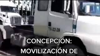 Concepción: Camioneros se movilizan contra los ataques incendiarios que sufren a diario