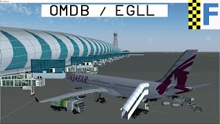 [FlightGear] !New Buildings! Dubai OMDB & Heatrow EGLL | A330 Flight (HD)