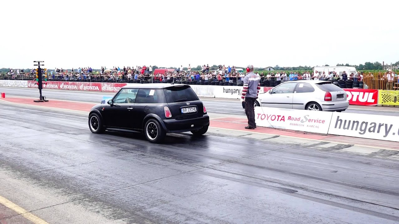 Mini Cooper Turbo 400hp Vs Honda Civic