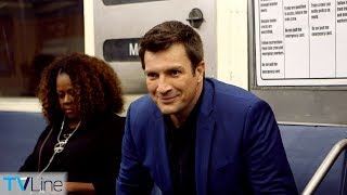 Nathan Fillion Talks 'The Rookie,' 'Castle' on Train   TVLine's Tube Talk