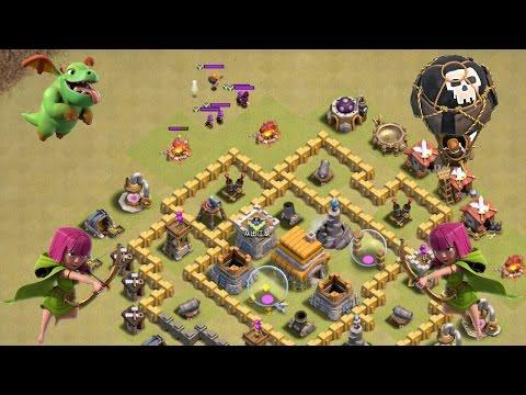 Clash Of Clans - War Lower TH Enemy Clan Castle Troop Lure