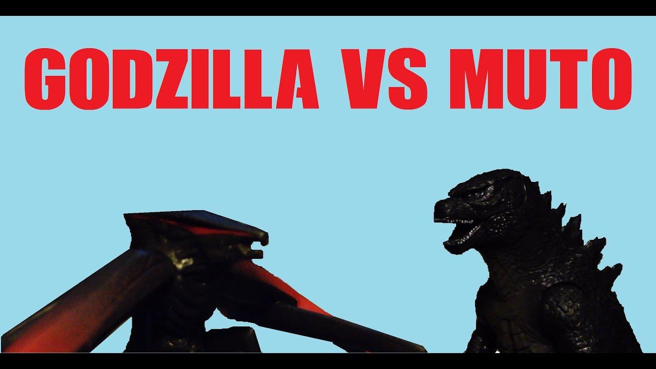 Godzilla 2014 Vs Muto Toys Youtube