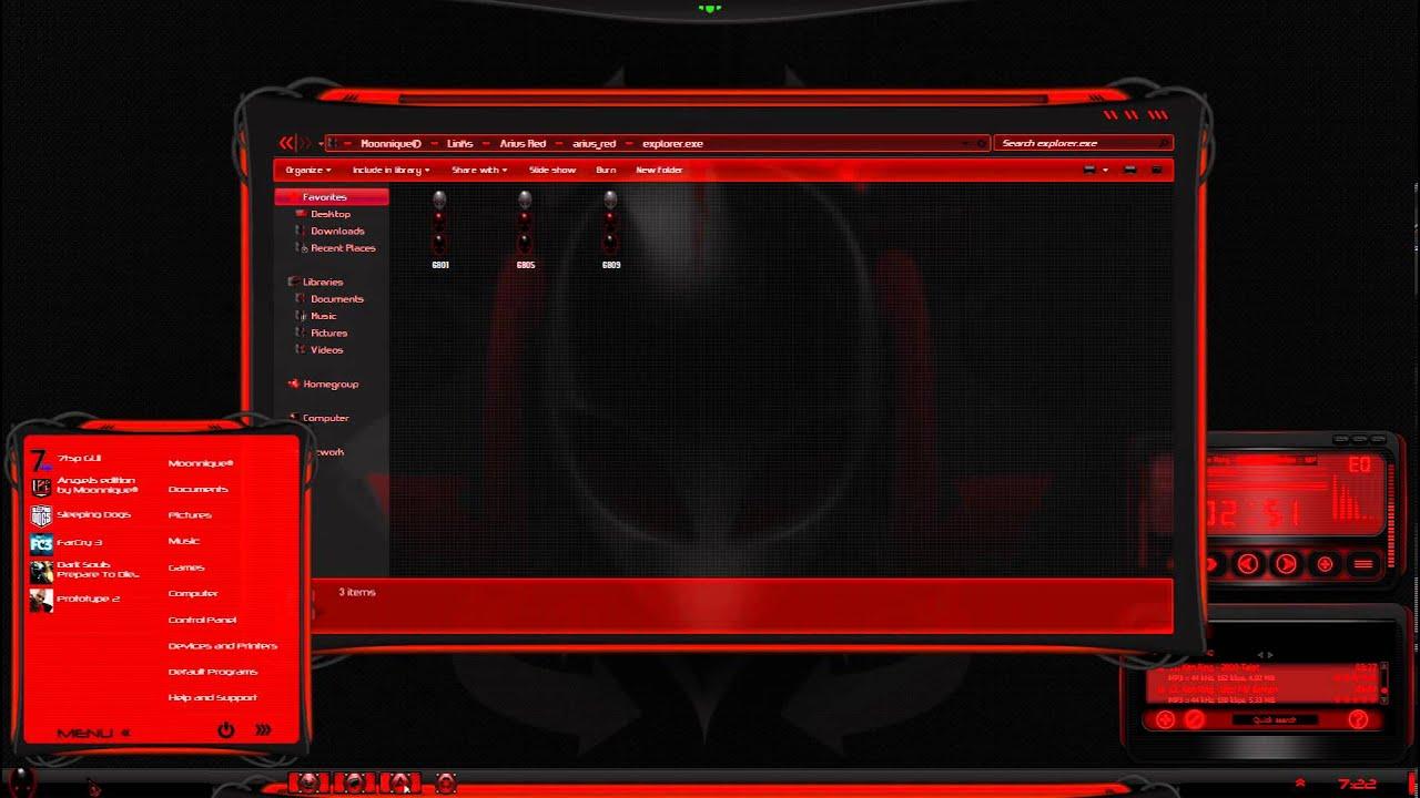 Arius alienware red theme for windows se7en youtube arius alienware red theme for windows se7en voltagebd Choice Image