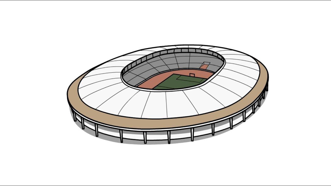 нарисовать стадион в картинках же, про