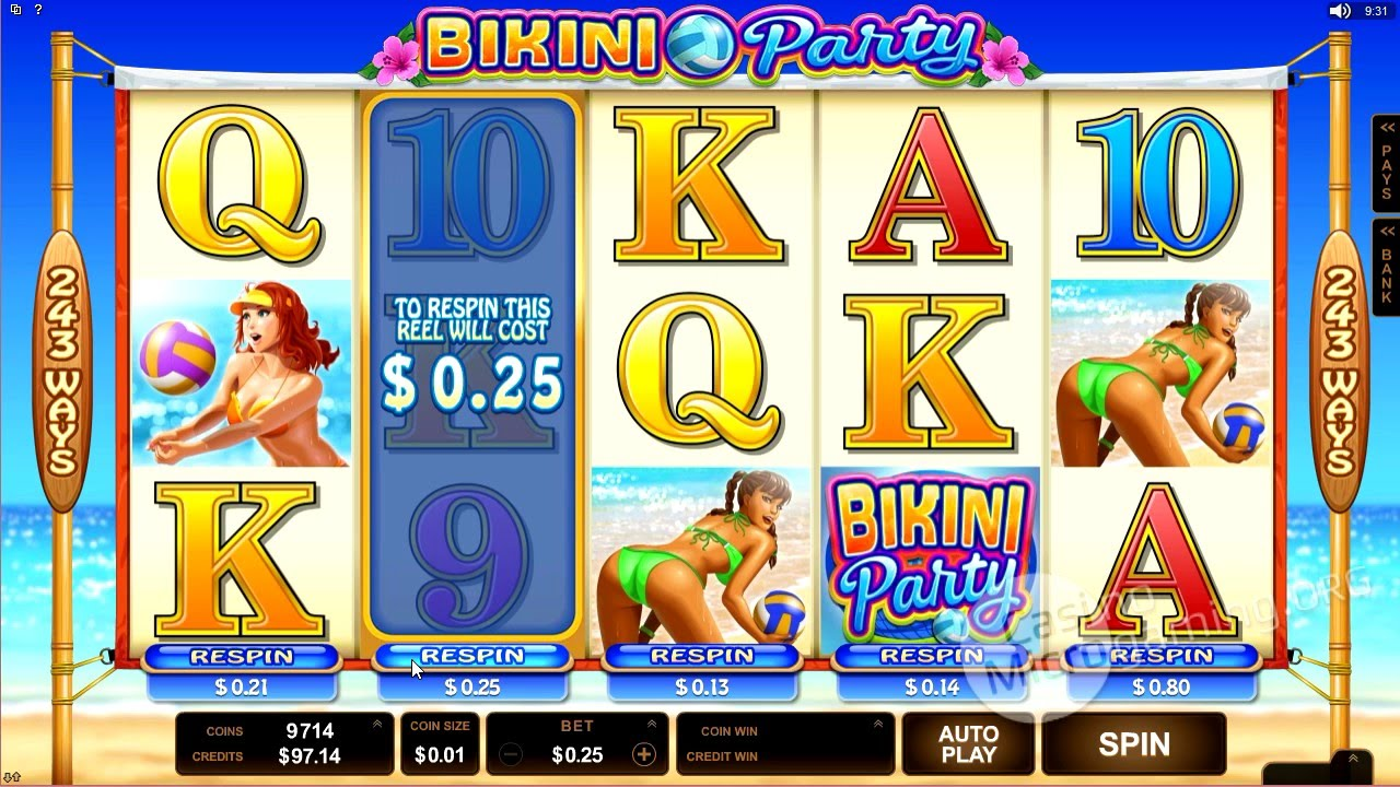 Tour bikini party slot machine online microgaming tokens